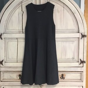 Eileen Fisher Washable Wool Crepe Graphite Dress
